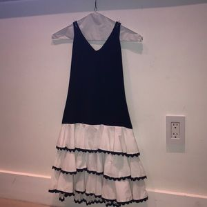 Girls dress down!!! Navy and white. Summer dress